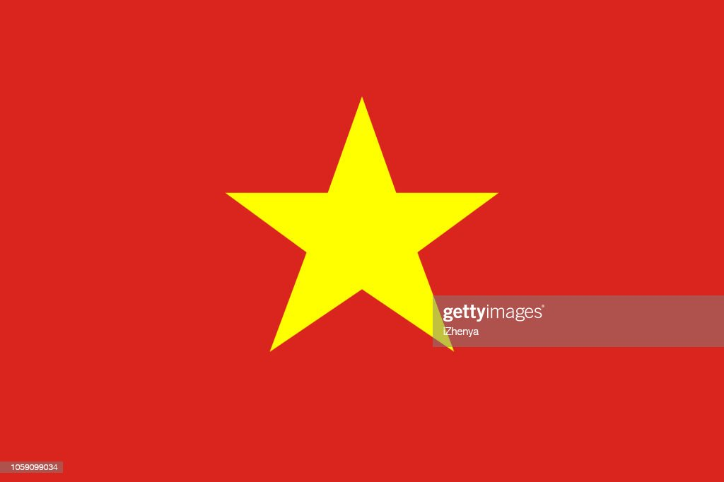 Socialist Republic of Vietnam flag. Official colors. Correct proportion. Vector