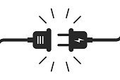 Socket plug isolated icon connection. Plug socket concept. Electric or energy connection icon.