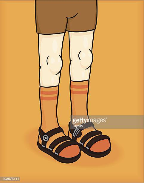 socks and sandals - sandal stock illustrations, clip art, cartoons, & icons