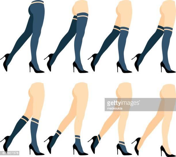 socks - high heels stock illustrations, clip art, cartoons, & icons