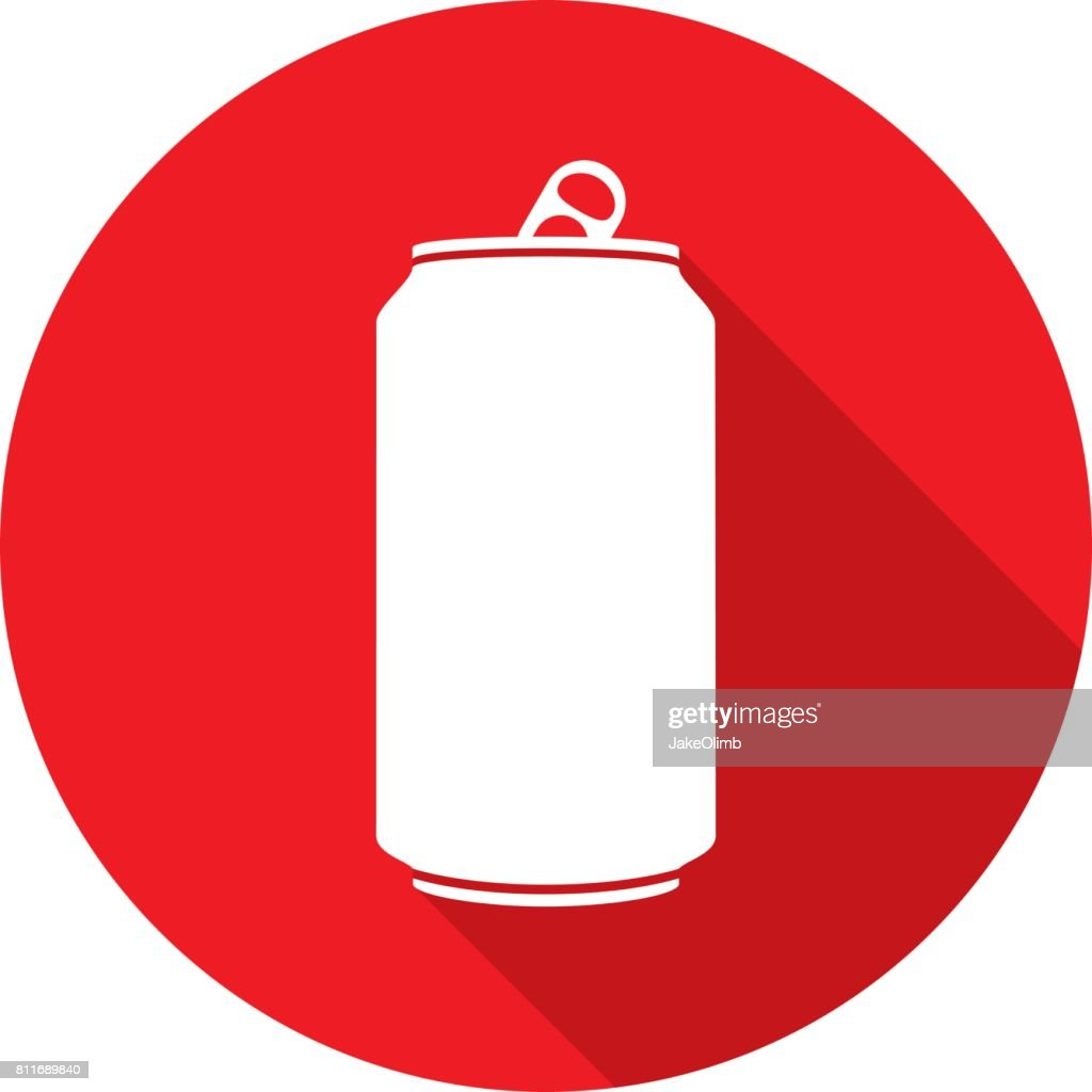 Soda Can Icon Silhouette : stock illustration