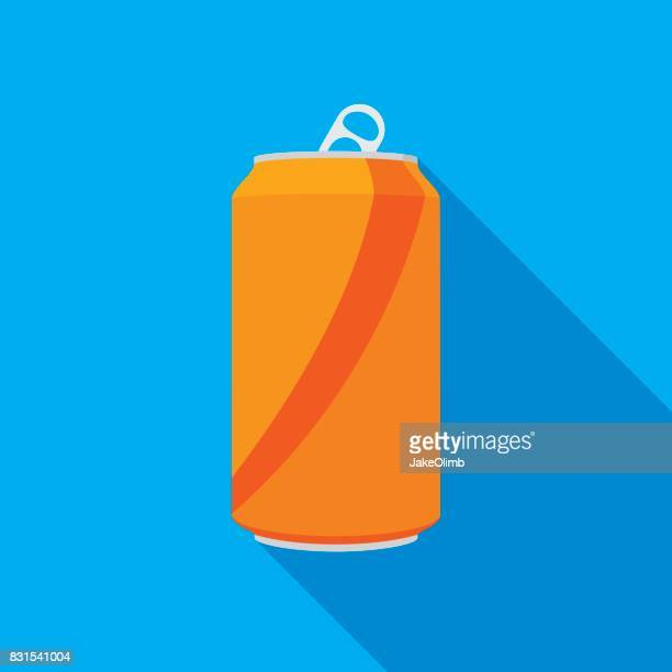 soda can icon - juice drink stock illustrations, clip art, cartoons, & icons