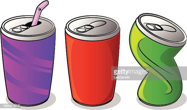 ilustrações, clipart, desenhos animados e ícones de latas de refrigerante dos - drink can