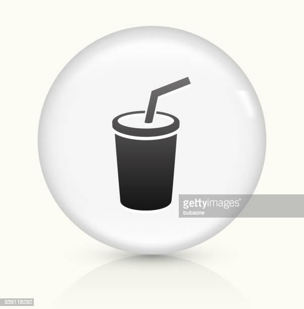 Soda icon on white round vector button