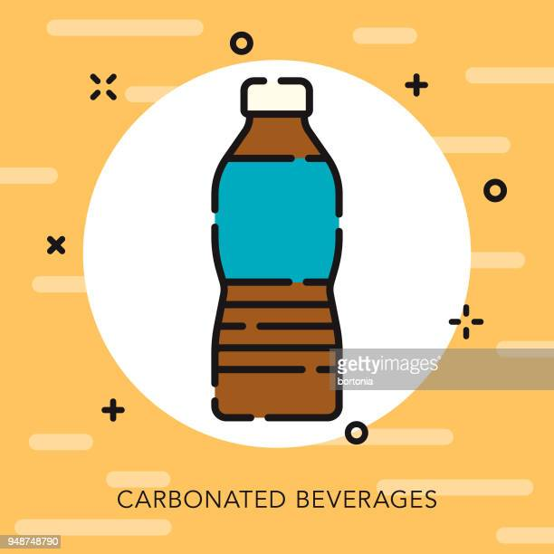 soda open outline fast food icon - carbonated stock illustrations, clip art, cartoons, & icons