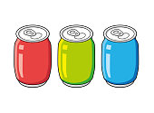 Soda soft drink cans