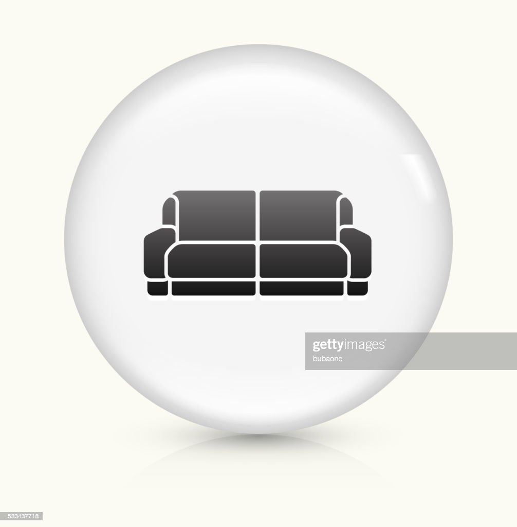 Sofa Icon On White Round Vector Button Stock Vector Getty Images
