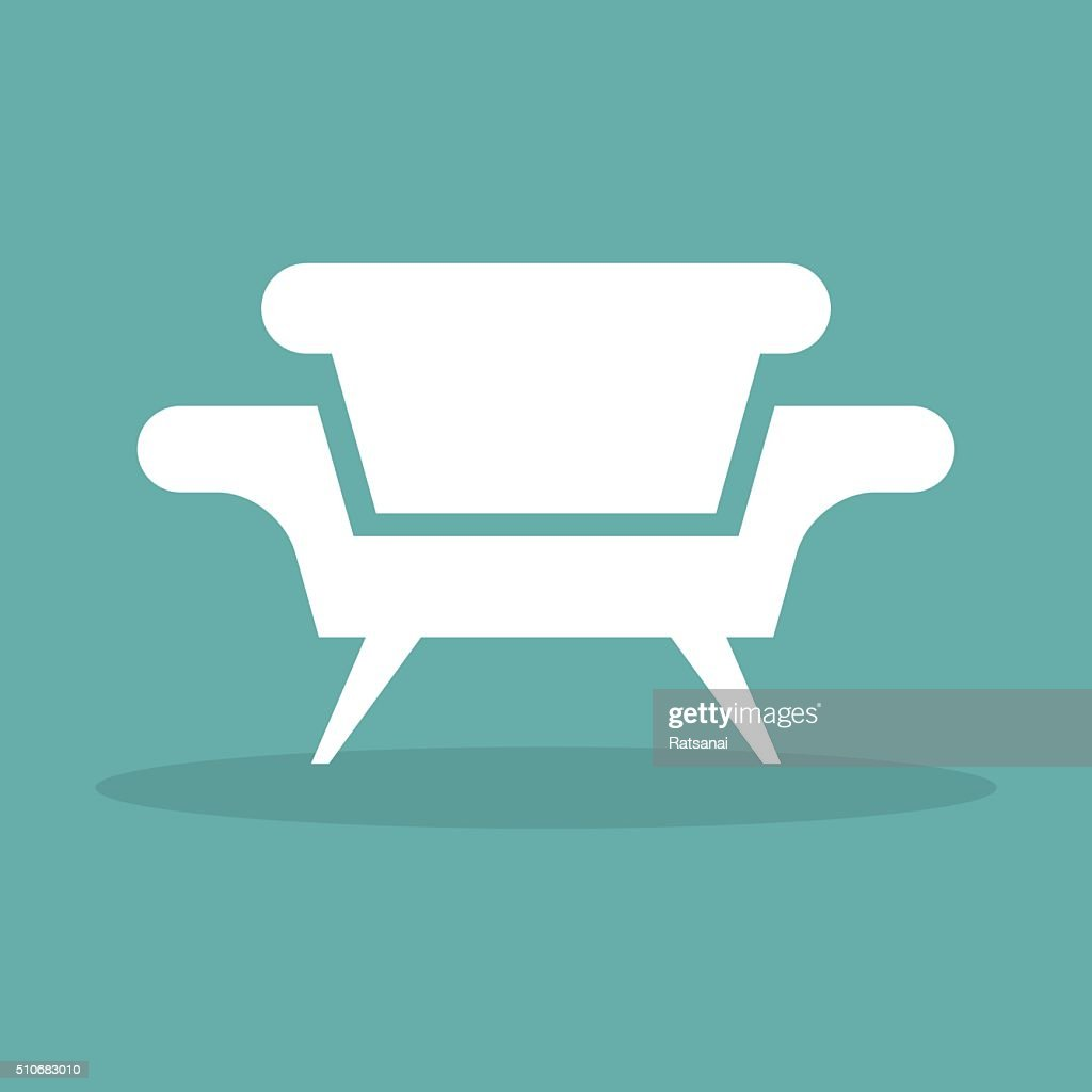 Sofa Icon Vector Stock Vector Getty Images