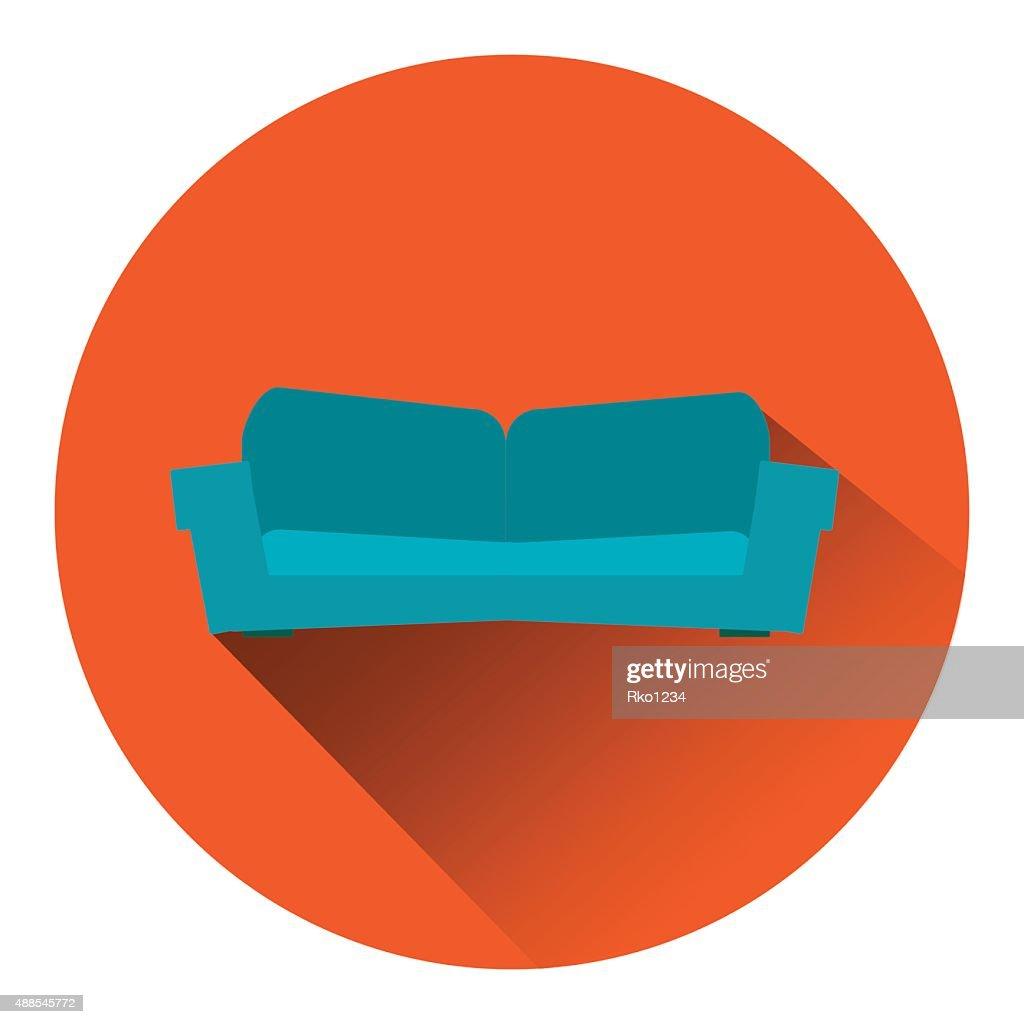 sofa orange web button