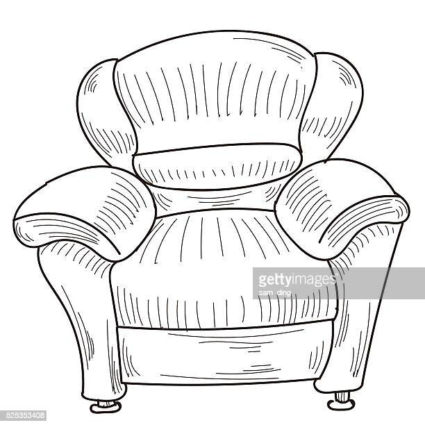 sofa - chaise stock illustrations, clip art, cartoons, & icons
