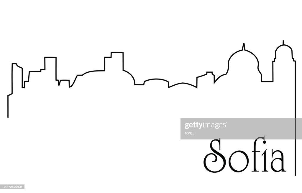 Sofia city one line drawing