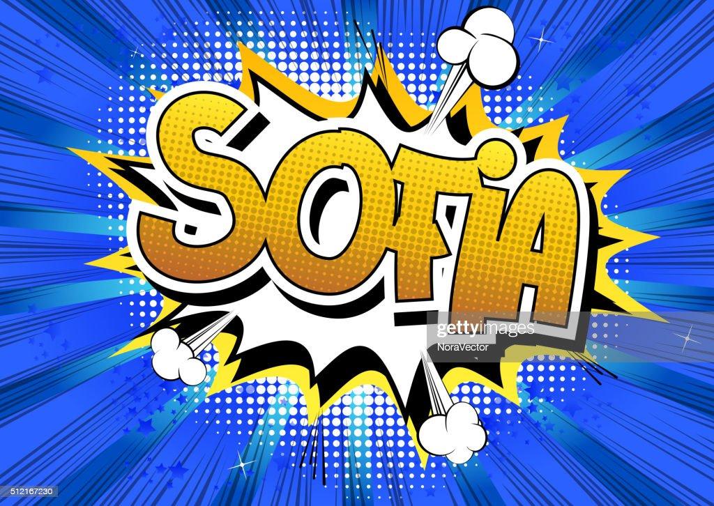 Sofia - Comic book style word.