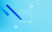 Soft blue color. Business vector illustration. Space for text.