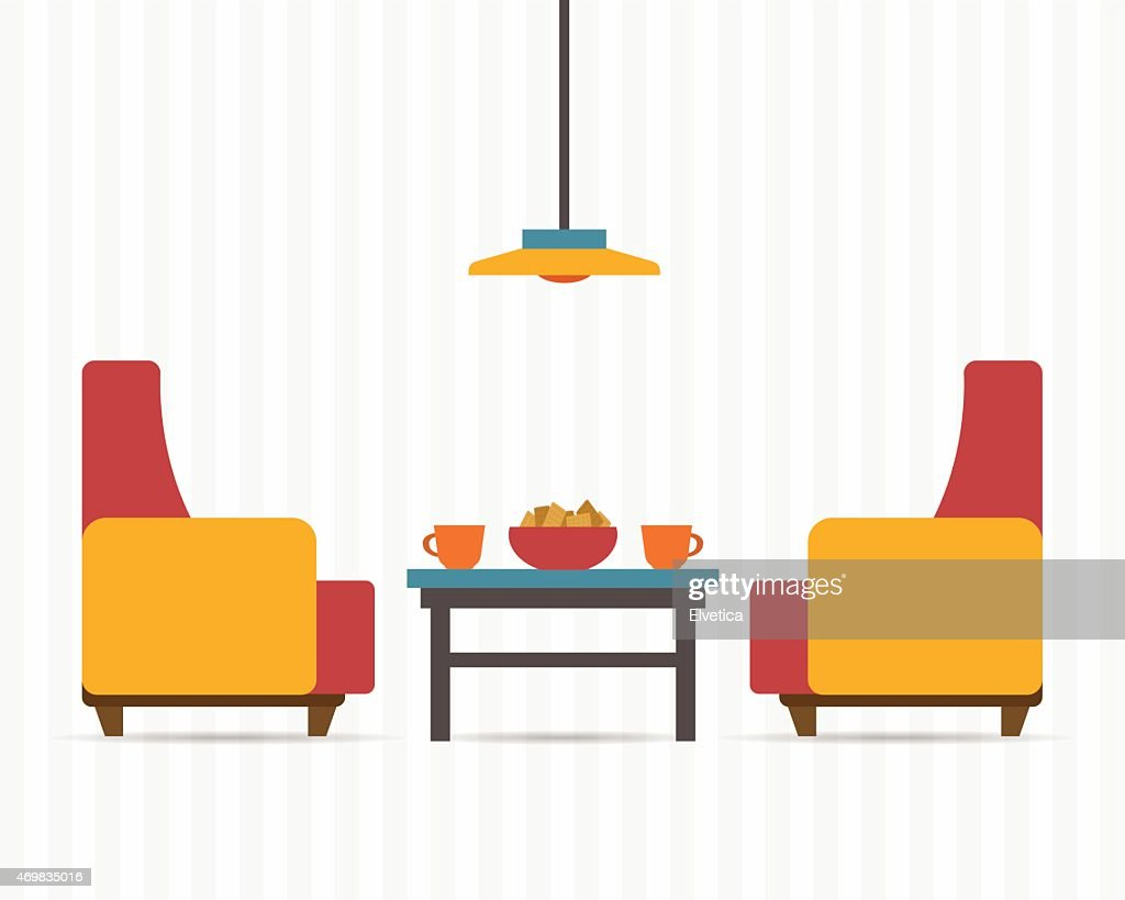 Soft chair with table