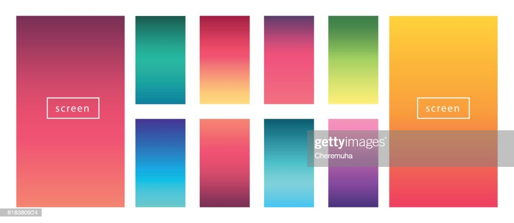 Soft color background set