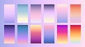 Soft color background Trendy screen vector design for landing page, smartphone, mobile app