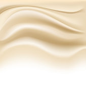 soft creamy background on white. vector illustration