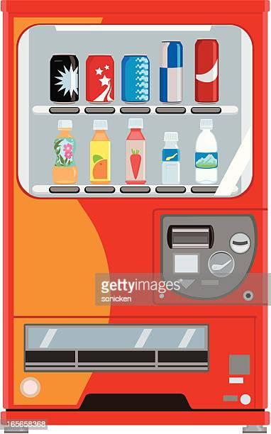 soft drinks vending machine - juice drink stock illustrations, clip art, cartoons, & icons