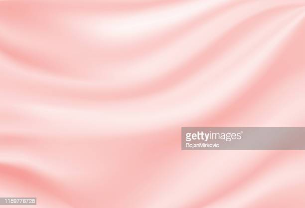 soft silk satin pink background. vector illustration. - pink colour stock illustrations