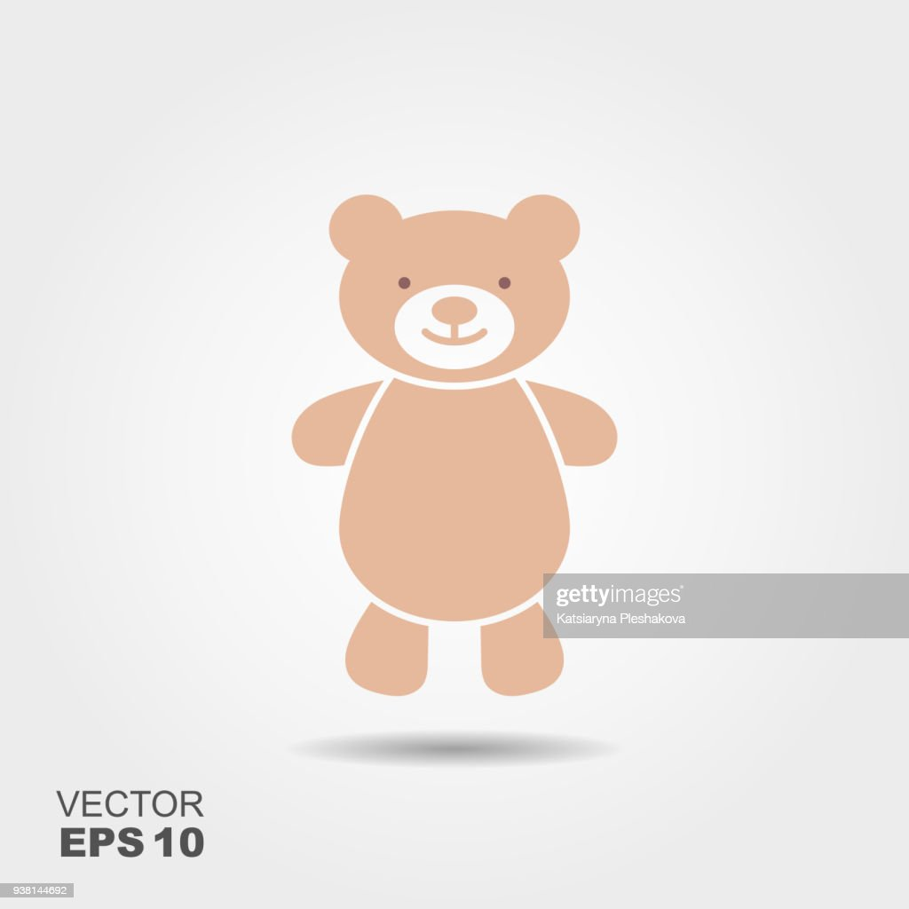 Soft toy, Teddy bear flat icon