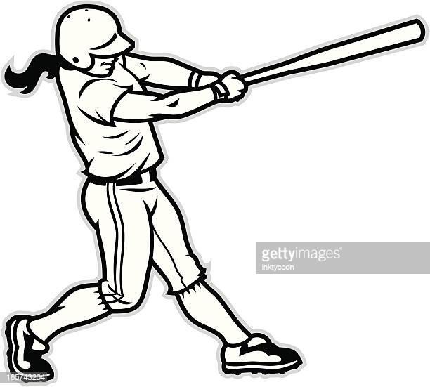 Softball Bat Cartoon Stock Illustrations And Cartoons