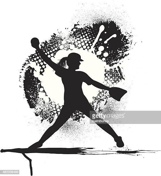 u30bd u30d5 u30c8 u30dc u30fc u30eb u306e u30a4 u30e9 u30b9 u30c8 u7d20 u6750 u3068 u7d75 getty images baseball pitcher clip art black and white Cartoon Baseball Pitcher