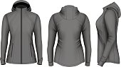 Softshell hooded jacket for lady.