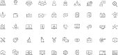Software Business Futuristic Icon Set Vector