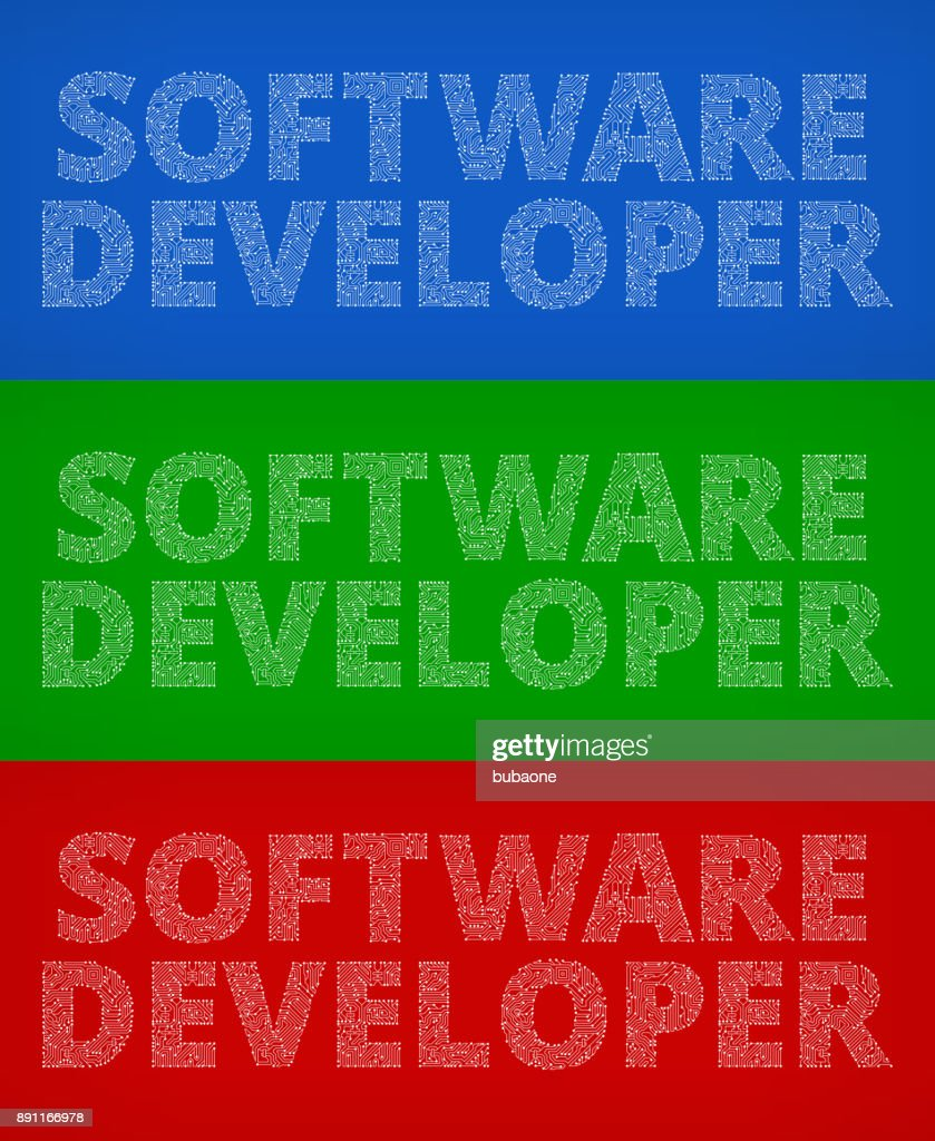 Software Developer Circuit Board Color Vector Backgrounds Vector Art ...