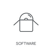Software linear icon. Modern outline Software logo concept on white background from Technology collection
