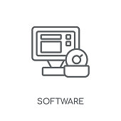 Software linear icon. Modern outline Software logo concept on white background from Programming collection