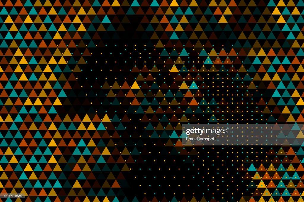 Gleichseitiges Dreieck Muster horizontaler Boden : Stock-Illustration