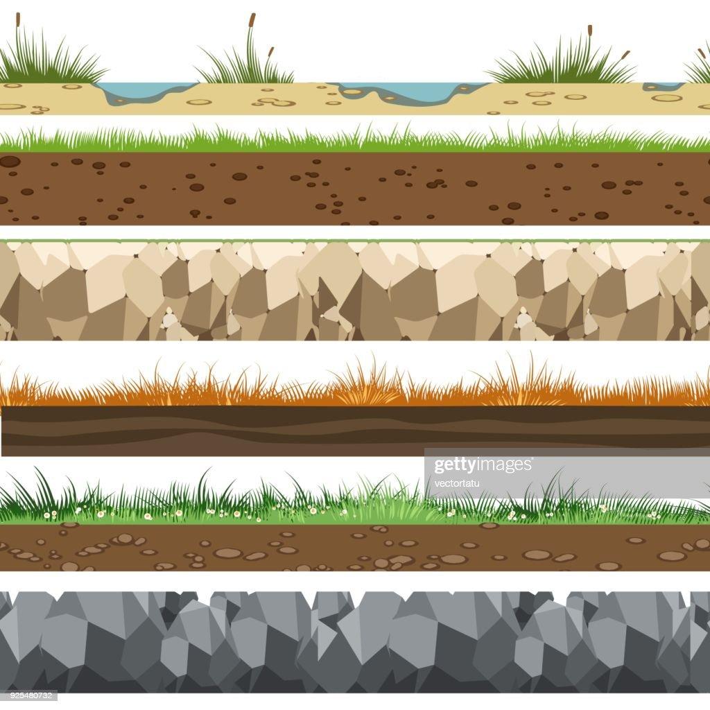 Soil horizontal patterns