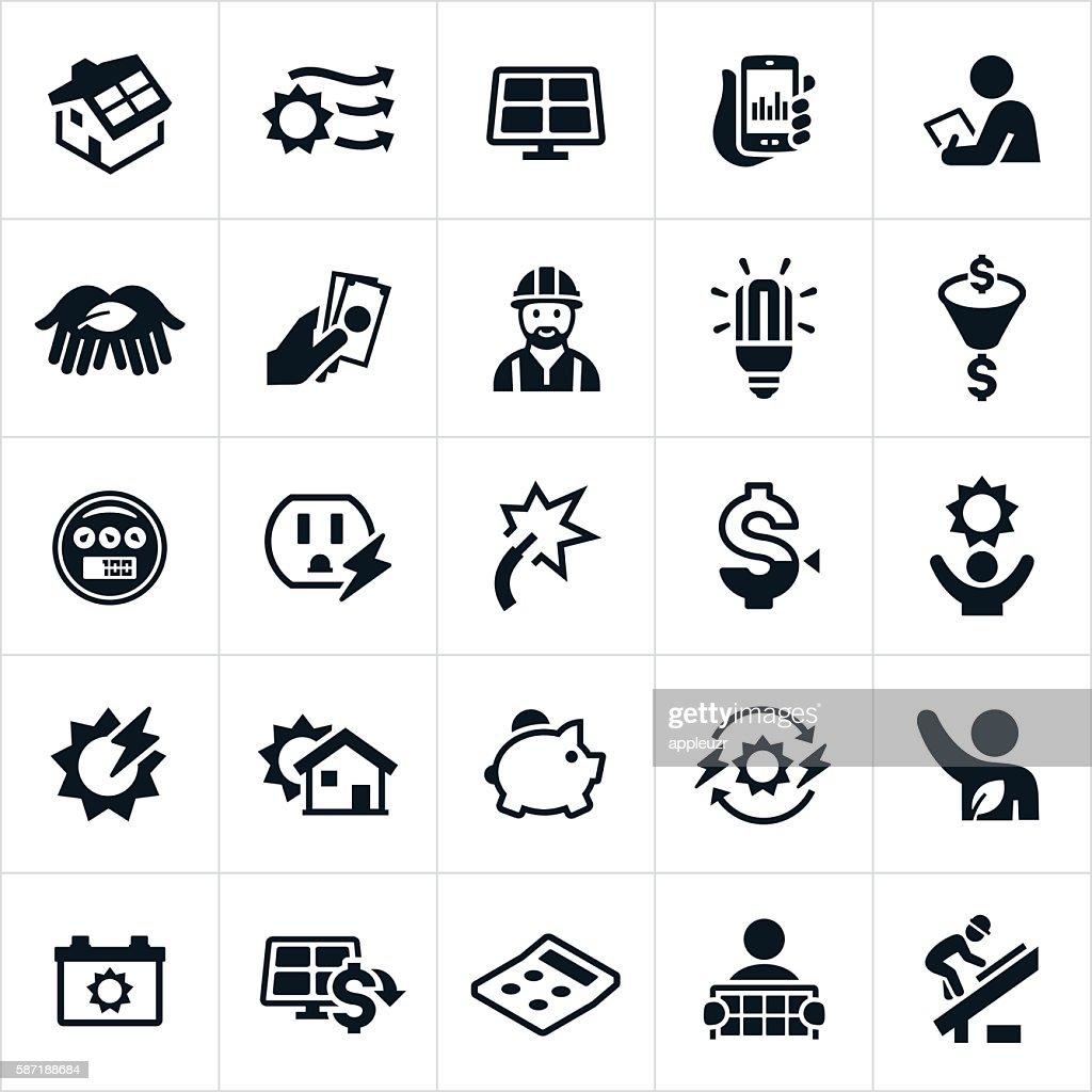 Solar Energy Icons : stock illustration