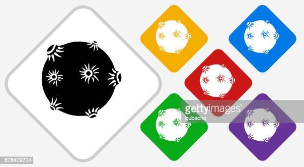 solar flare color diamond vector icon - solar flare stock illustrations, clip art, cartoons, & icons