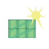 Solar panel. Eco icon
