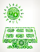 Solar Panel Nature and Environmental Conservation Icon Pattern