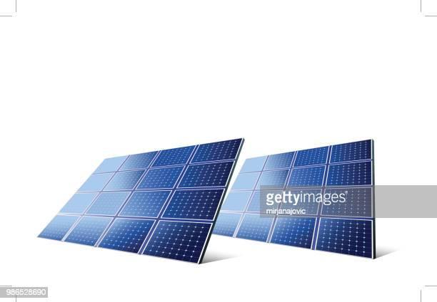 solar panels - solar panel stock illustrations