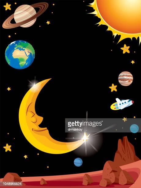 Solar System Hintergrund