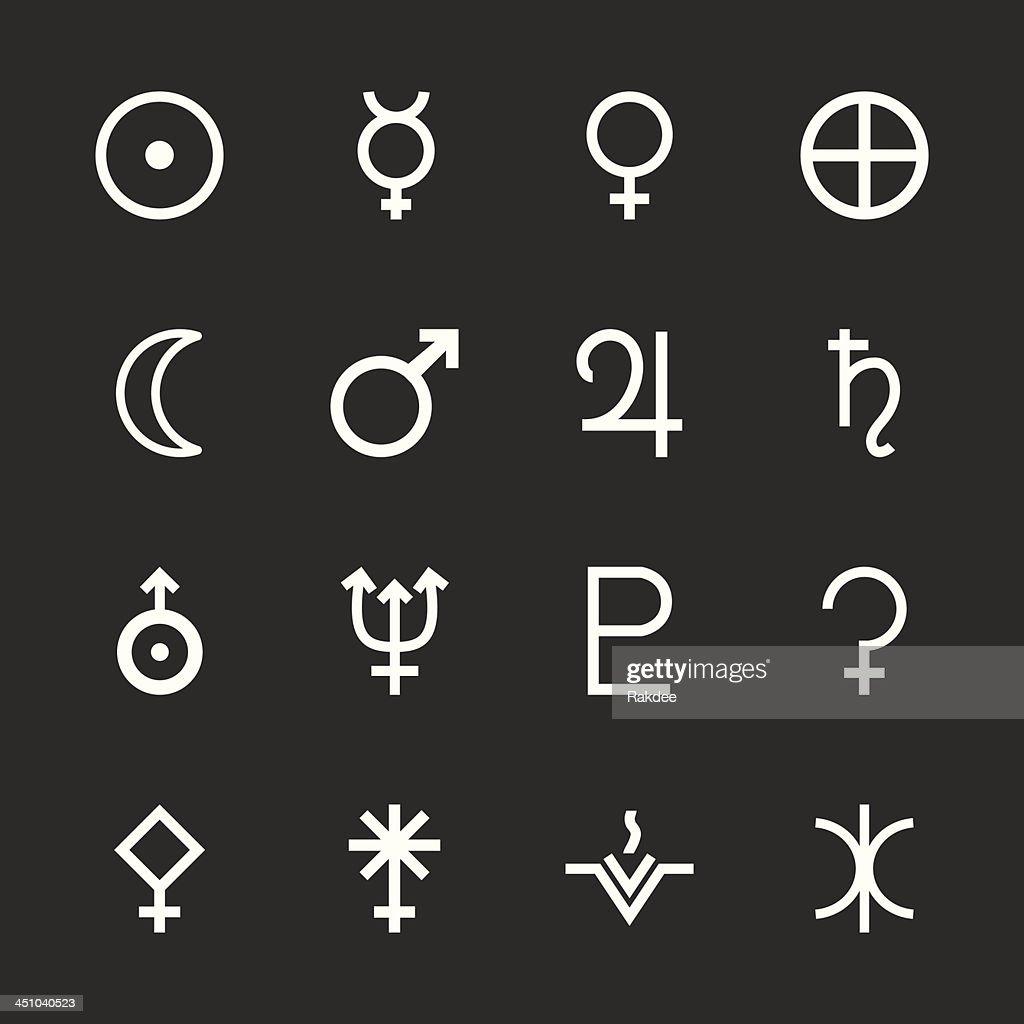 Solar System Icons - White Series | EPS10