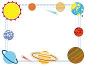 Solar system Illustration flame2. Flat design ver