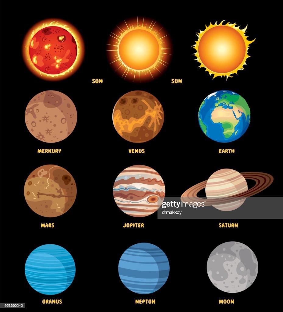 Solar System Poster : stock illustration