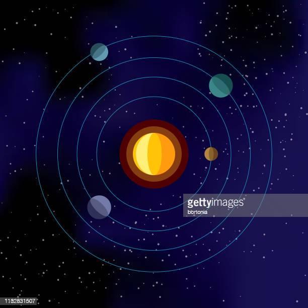 illustrations, cliparts, dessins animés et icônes de icône de l'espace du système solaire - constellation