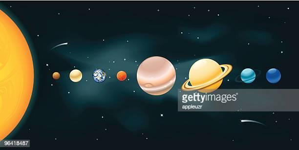 solar system - astronomy stock illustrations