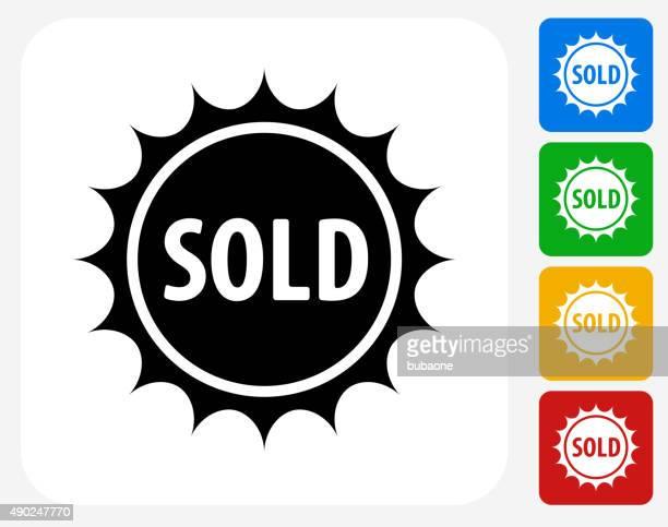 Sold Emblem Icon Flat Graphic Design