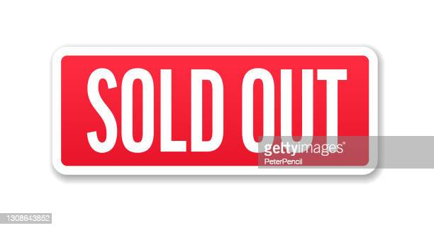 sold out - banner, label, paper, button template vector stock illustration - sold out stock illustrations