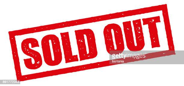 sold out red rubber stamp icon on transparent background - sold out stock illustrations