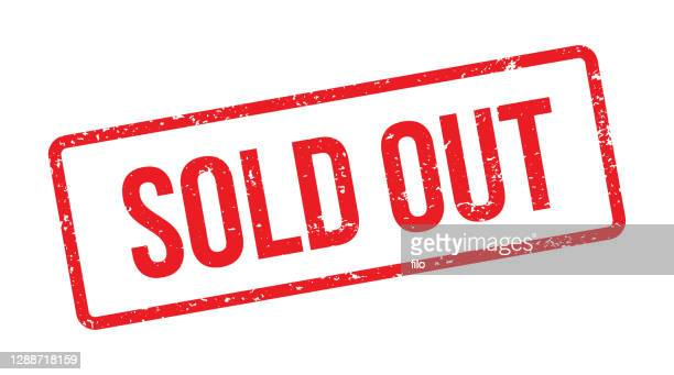 sold out red stamp - sold out stock illustrations