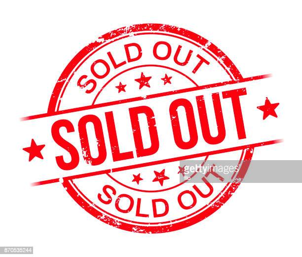 sold out - sold out stock illustrations