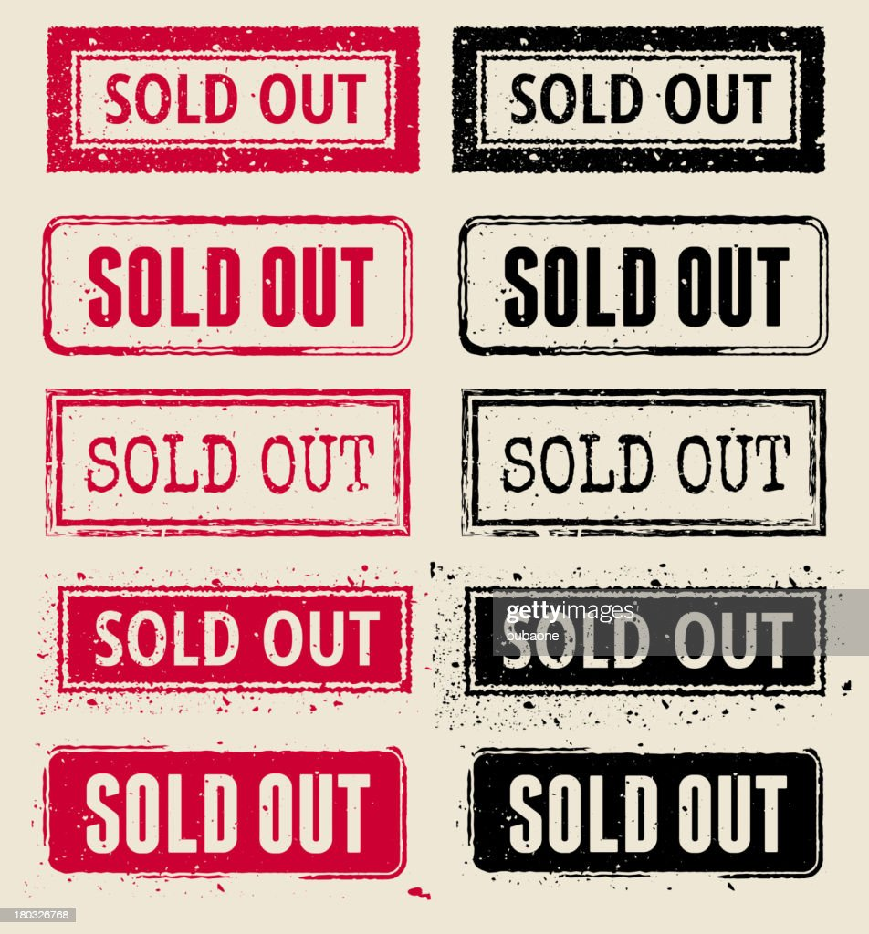 Sold Out Vector Rubber Stamp Collection